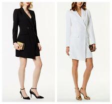New KAREN MILLEN BNWT £225 DC197 Blazer Coat Tuxedo Dress UK Size 8 10 12 14 16