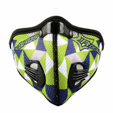 Rockbros Cycling Anti-dust Half Face Mask With Filter Neoprene Green