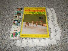 ALBUM OLIMPIADI MONTREAL 76 EDIS Q.COMPLETO(-24) CON 68 FIG DA ATTACCARE BN/OTT