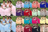 Stock New Lace/Chiffon Formal Prom Party Ball Bridesmaid Evening Dress Size6-18