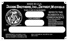 Dodge Brothers Data Plate Version 2