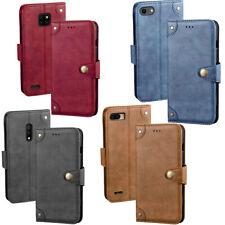 Handy Hülle Echt Leder für Smartphone Flip Case Cover Retro Tasche Schutzhülle