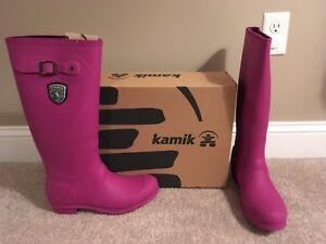 Kamik Pink Jennifer Viola Rainboots