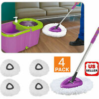 4 Pack Replacement Microfiber Mop Head Refill For Magic Mop 360° Spin Mophead US