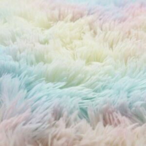 Faux Fur Rug Round Shape Shaggy Rugs Floor Carpet For Bedroom Living Room