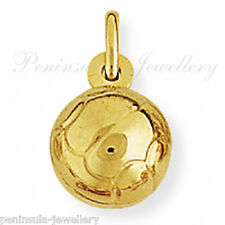 9ct Gold Football Charm for Bracelet or Necklace Gift Boxed