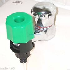 Connect your Tap to Garden Hose Round Square Mixer Taps Connector Screw on Seal