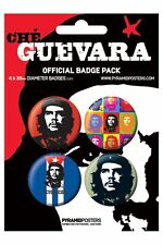 CHE GUEVARA che guevara 2013 - BUTTON BADGE PACK - SET OF 4 official licensed