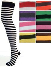 (1 Pair) Over The Knee Socks Striped (Size 4-7 [35-39]) Halloween Fancy Dress
