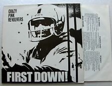 CRAZY PINK REVOLVERS First down UK LP CHAINSAW Records EX+/MINT