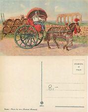 Roma carro da vino Costumi romani anno 1920 circa (R-L 020)