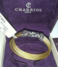 CHARRIOL Women's Two-Tone PVD Stainless Steel Cable Bangle Bracelet M NEW/ w BOX