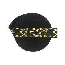 "5 Yard 5/8"" Gold Arrow Foil Print Fold Over Elastics FOE Spandex Band Dress Trim"