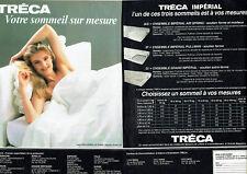 Publicité Advertising 088  1985   matelas Tréca Impérial ( 2 pages)