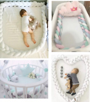 Newborn Baby Crib Bumper for Bed Bumpers cribs pads girl boy set corners cotton