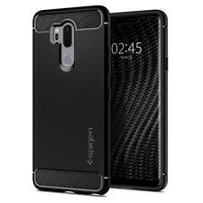 LG G7 ThinQ Case | Spigen® [Rugged Armor] Black Protective Slim Light Cover
