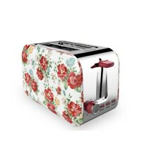 The Pioneer Woman 2-Slice Vintage Floral White Toaster, New in Box