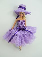 Barbie Doll Outfit Costume Dress & hat Fairytopia Ballerina Fairy Angel # FA-18