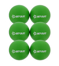 """Get Out™ 6"""" Inch Soft Latex-Free Foam Dodgeball Balls 6-Pack Set in Green"""