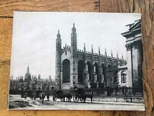 More details for early 1900s very large giant postcard - kings parade cambridge ! jv 6318