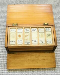 Antique Cased PETROLOGY COLLECTION (72)   MICROSCOPE SLIDES,  Scottish Locations