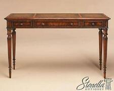 L47465: MAITLAND SMITH #8115-34 Leather Top 3 drawer Mahogany Sofa Table  ~ New