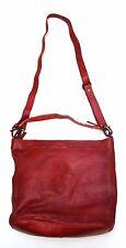 BEAR DESIGN Schulter Tasche red rot CL-32851 Neu Leder gewaschen