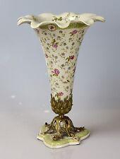 PORCELLANA BRONZO tavolo vaso vaso vaso fasto H: 33 cm
