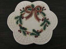 Fitz and Floyd Vintage Wreath Plate Christmas Vintage
