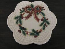 Fitz and Floyd Vintage Wreath Plate Christmas Vintage