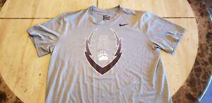 UNIVERSITY OF MONTANA GRIZZLIES Football Nike Gray T-Shirt Size XL Dri-Fit