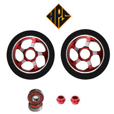 2X PRO STUNT SCOOTER RED VORTEX METAL CORE WHEELS 110mm 88A ABEC 9 BEARINGS 11