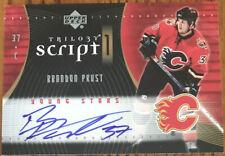 2007-08 Upper Deck Trilogy Scripts Brandon Prust #S1-BP Calgary Flames