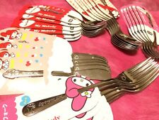 My Melody Dessert Spoon Fork Tea-spoon Cake-Fork Butter-knife KAWAII SET Sanrio
