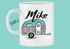 Caravan Mug Personalised Coffee Mug 11oz Christmas Gift Travel Add your name.