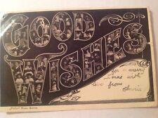 "Philco Name Series ""Good Wishes""  1905 Greetings Postcard"