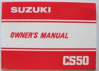 Suzuki CS50 1982 #99011-02121-01A Scooter Owner Handbook