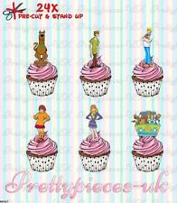 Scooby Doo 24 Stand-Up Pre-Cut Wafer Paper Cup cake Toppers
