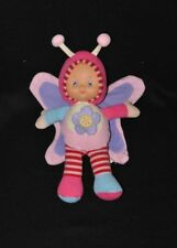 Peluche doudou poupée papillon LOGITOYS My First Lilidou grelot fleur 27 cm TTBE