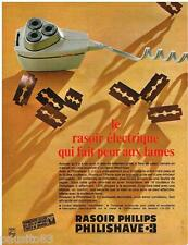 PUBLICITE ADVERTISING 095  1967  PHILIPS  rasoir PHILISHAVE JO HIVER DE GRENOBLE