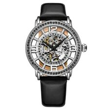 Stuhrling 3941 4 Winchester Automatic Skeleton Crystal Accented Womens Watch