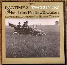 Ragtime 2 The Country Mandolins Fiddles & Guitar LP Samuel Charters RBF 18