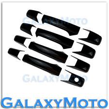 07-13 GMC Yukon+Yukon XL+Sierra+Silverado Gloss Black 4 Door Handle no KH Cover
