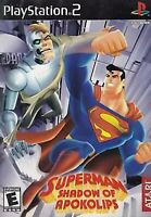 Superman: Shadow of Apokolips PlayStation 2 PS2 Kids Game Disc Only 24E Dc Comic