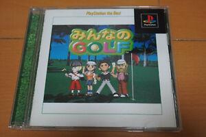 Minna No Golf Complete PS1 PlayStation 1 (Hot Shots Golf) Japanese Version Japan