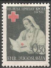 Yugoslavia Postal Tax Stamp - Scott #RA8/PT7 50p Dk Grn & Red OG Mint/LH 1950