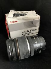 Canon EF-S 17-55mm f/2.8 IS USM lens STABILIZED