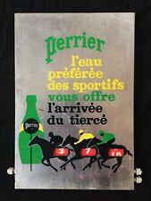 Tableau vintage publicitaire Perrier résultat du tiercé