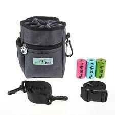 Dog Treat Training Pouch/Bag Pet Built-in Poop Bag Dispenser Shoulder Waist Bags