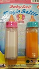 Magic Disappearing Mini 2-Pack Baby Doll Milk & Juice Bottles - Pretend Play